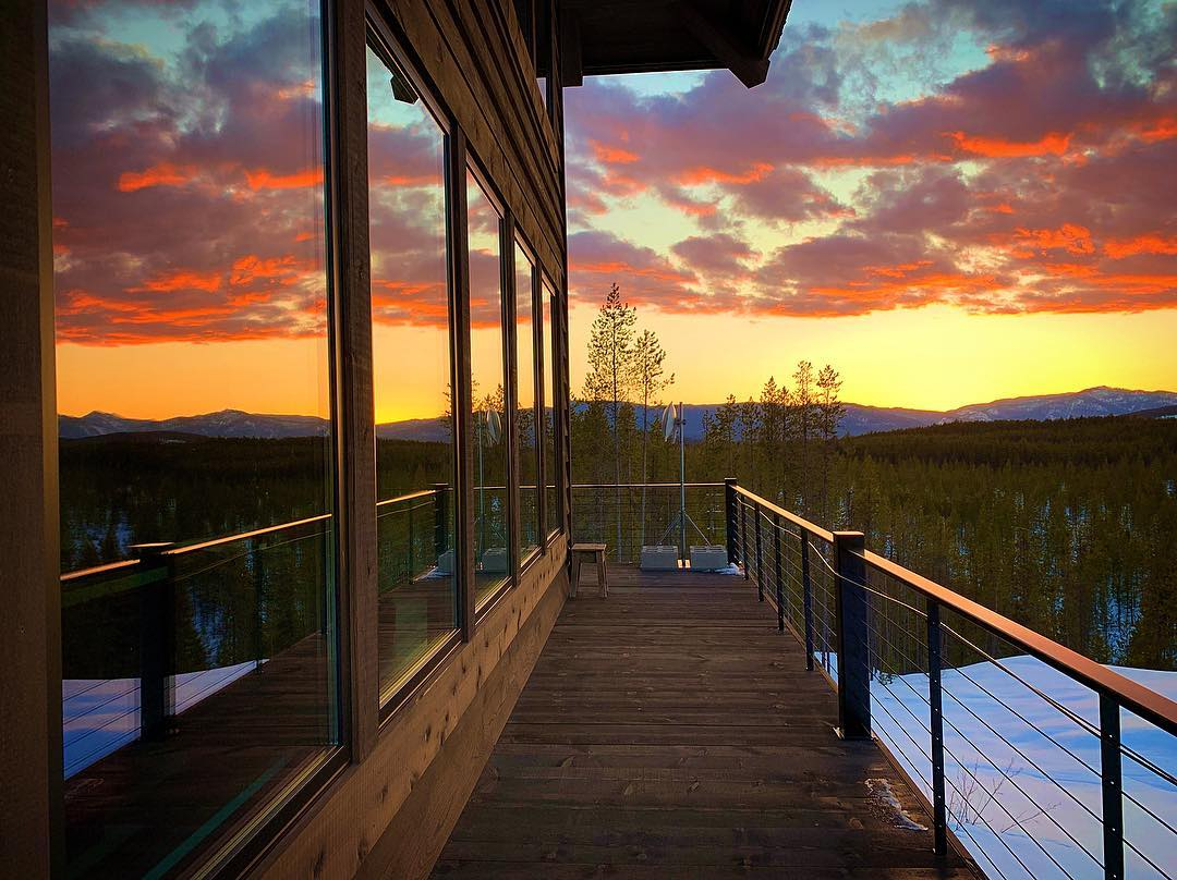 Can't help posting last nights sunset...have I said how much I love good windows?? whitefish custom home builder