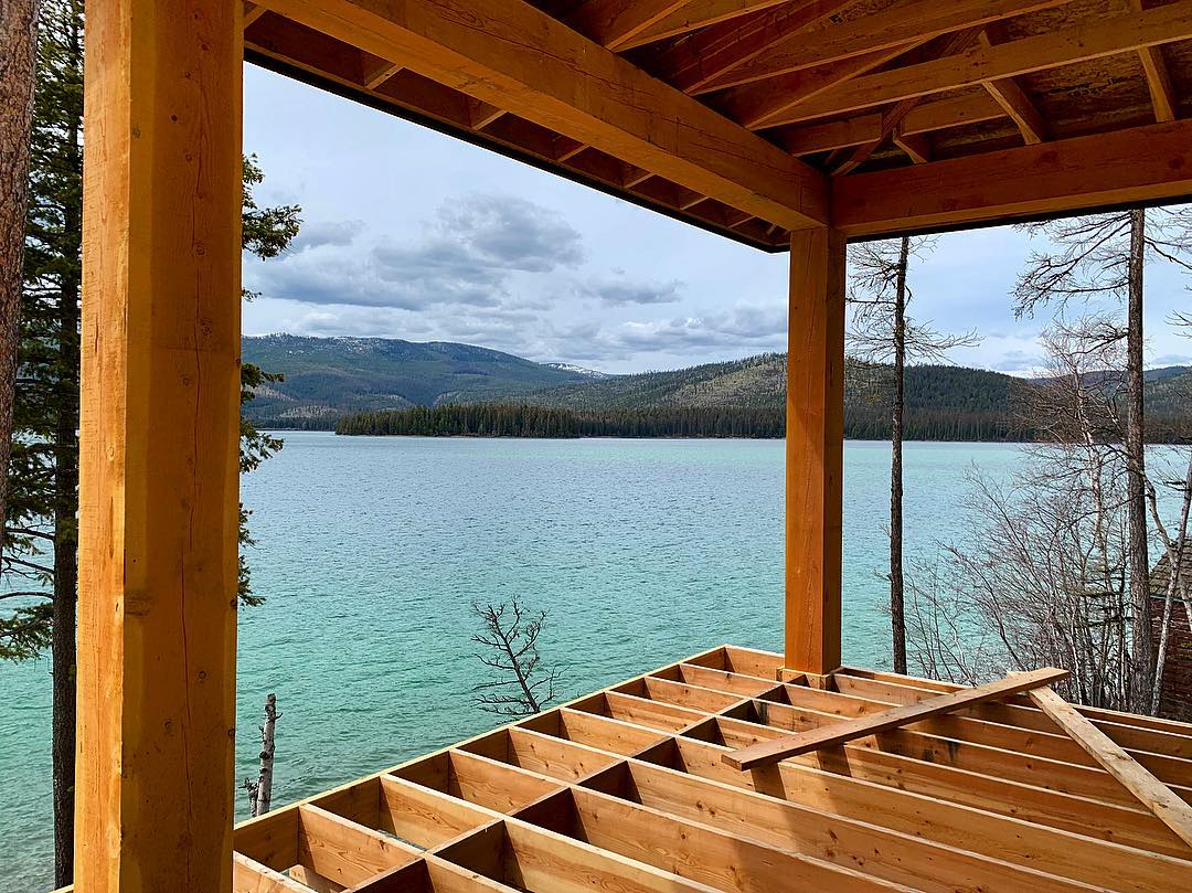 Yup, the water is really that color in Montana (thanks Glacial slit!) whitefish custom home builder
