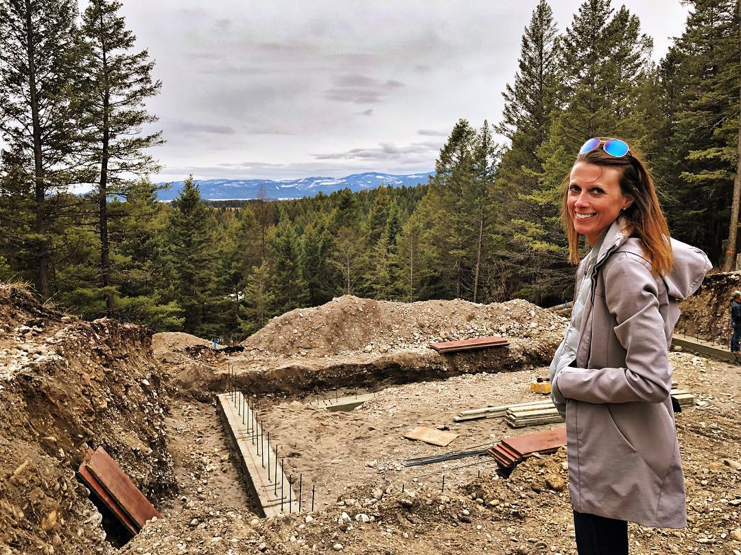 Yup, that's a sliver of Flathead Lake in the distance whitefish custom home builder