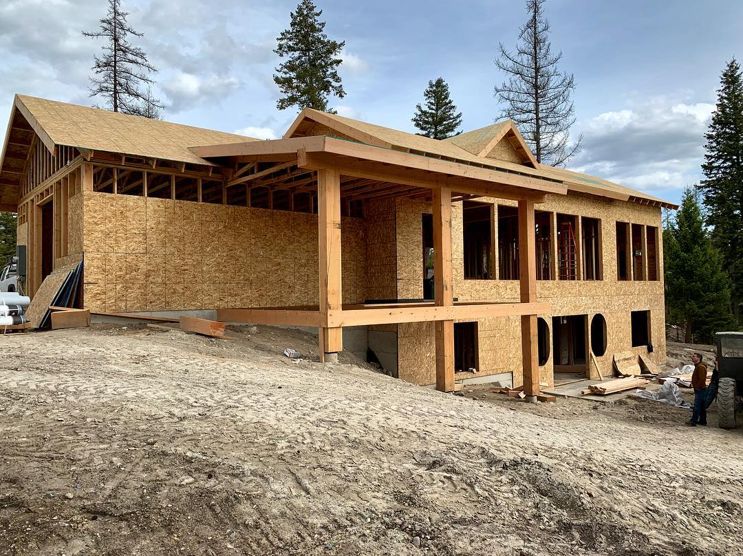 I could not be more excited with how the spec house is coming along. I could live here ️ check it out at 295 Bowdrie Trail, Whitefish Montana. PS...for those that know me best, see the prank played on me today? whitefish custom home builder