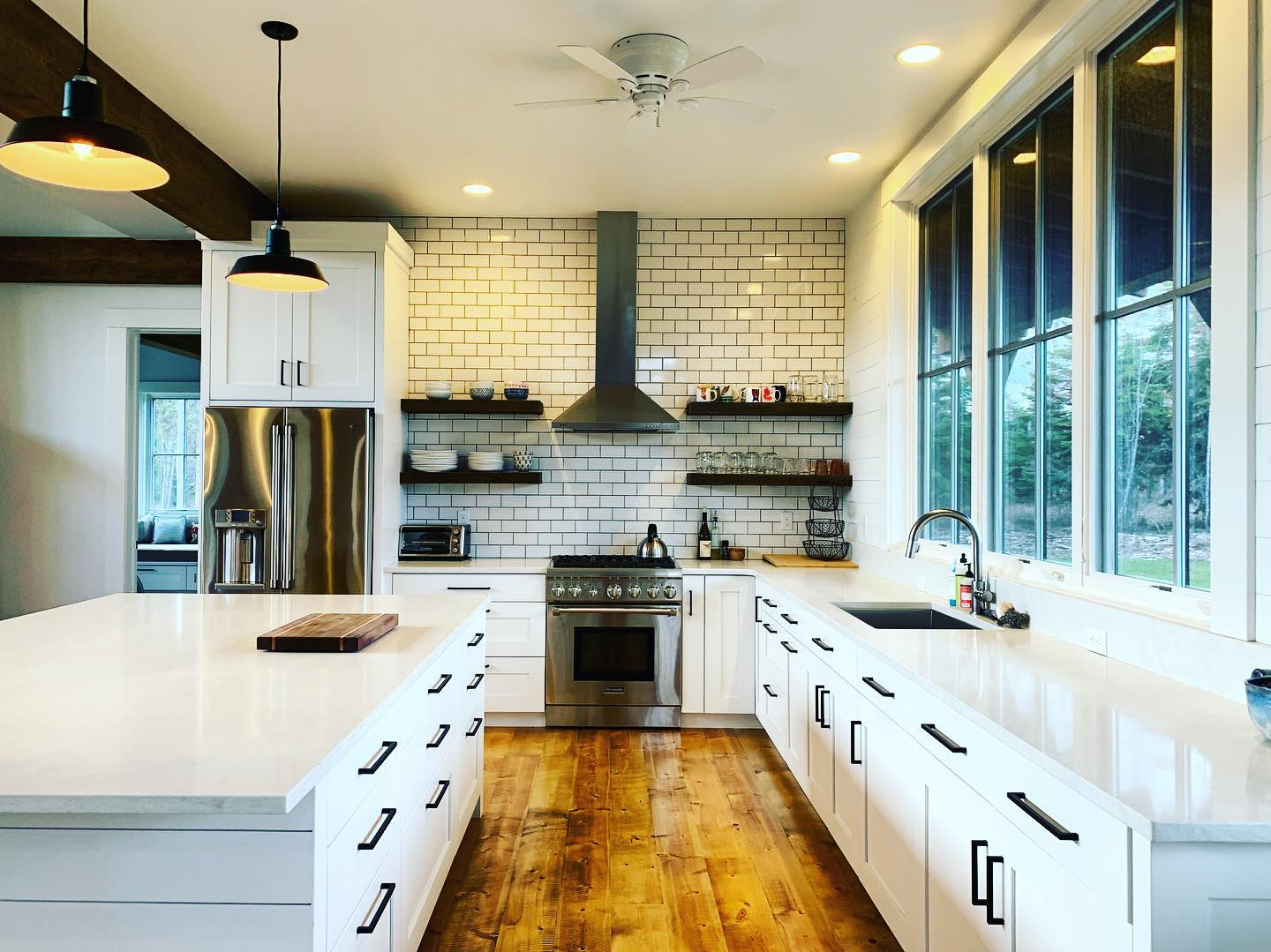 Love going back to our houses after they've become a home! And...white is always in style! whitefish custom home builder