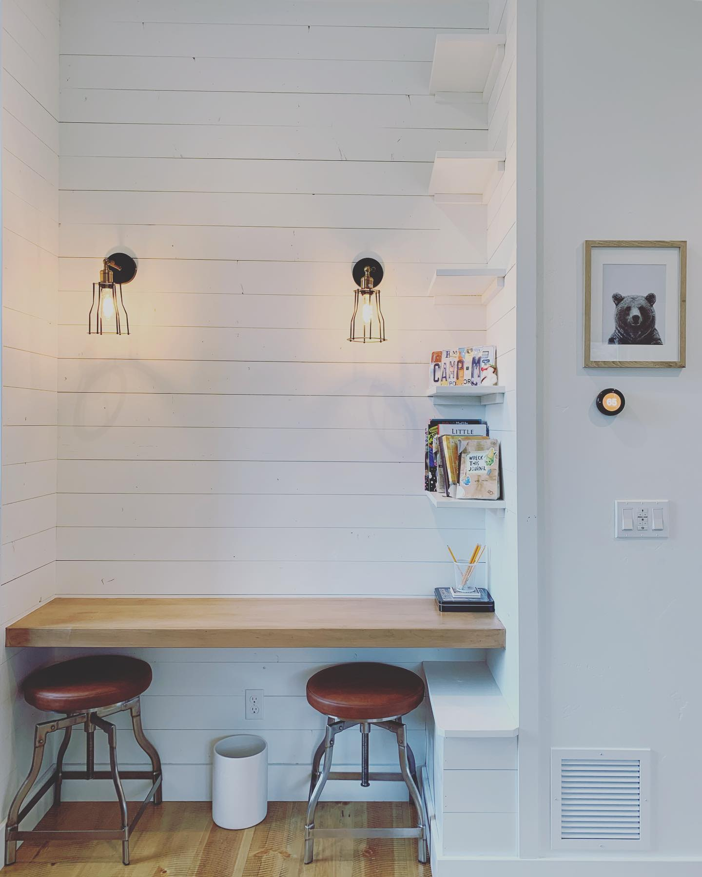 Yes to shiplap, and yes to white paint! whitefish custom home builder