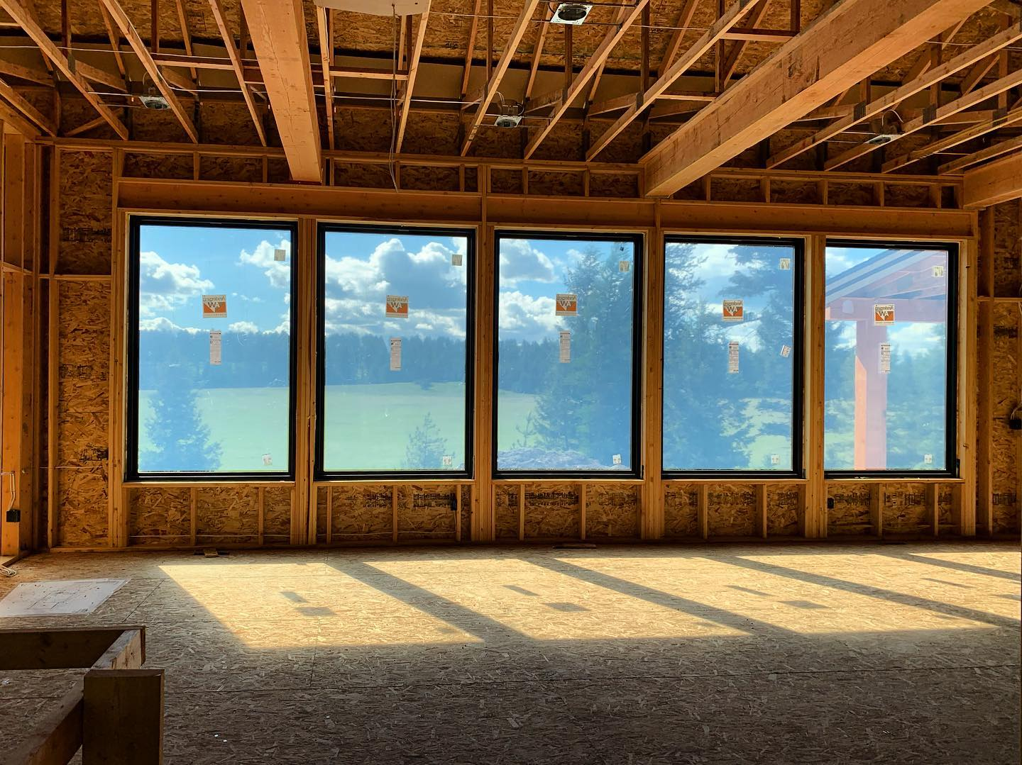 Could you walk in the front door to this view everyday?? Spec house whitefish custom home builder