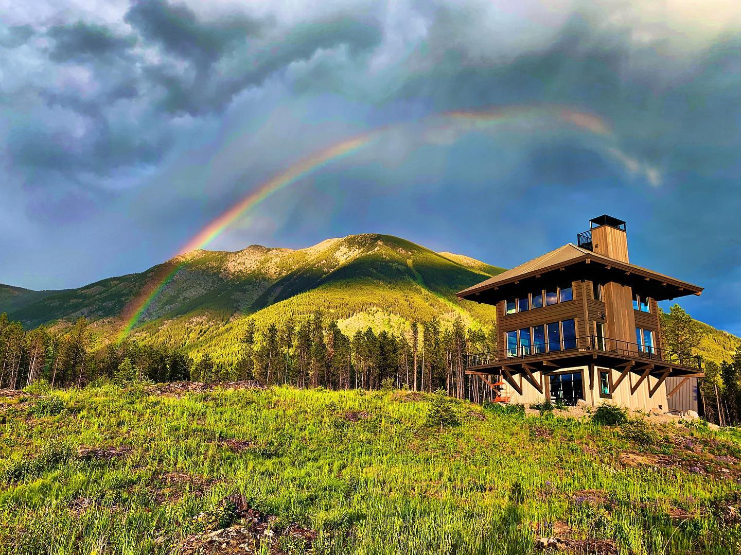 Happy Father's Day!! Last night at the Lookout...magic. whitefish custom home builder