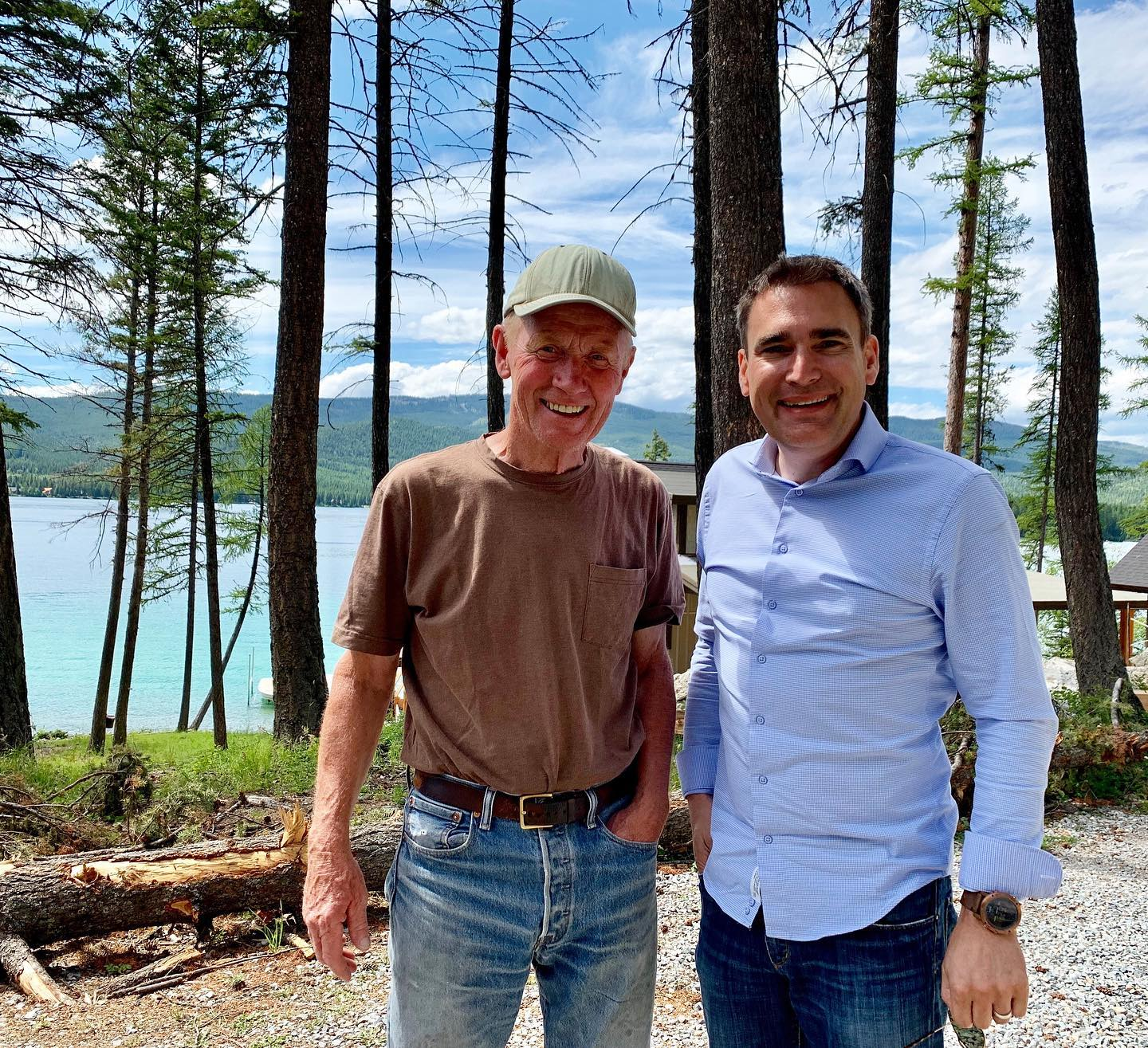 Our job-site was intriguing enough that today we got a visit from Uncle Jim whitefish custom home builder