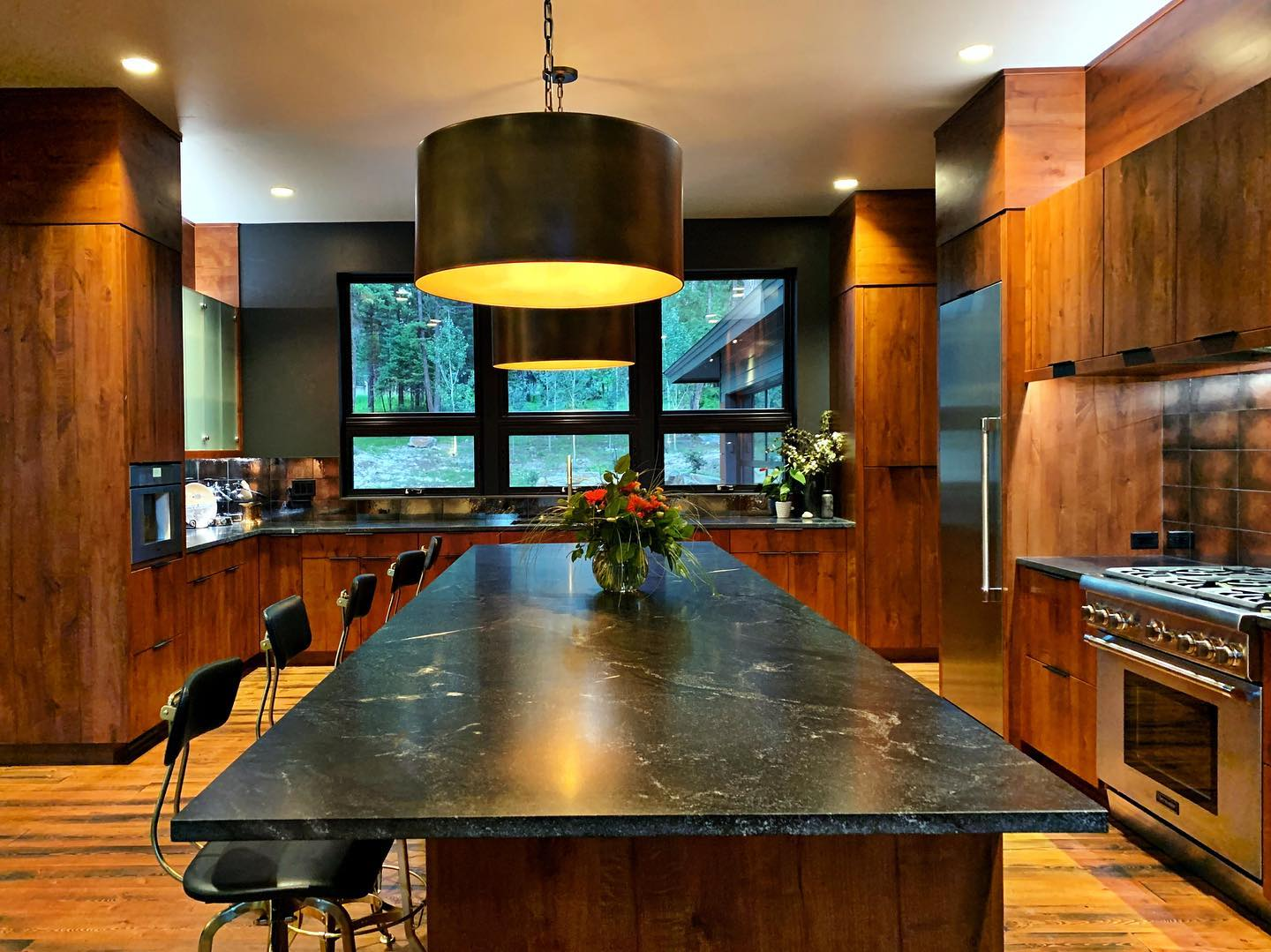 Thermador dream kitchen (I think we should enter the contest, don't you?) @thermadorhome whitefish custom home builder
