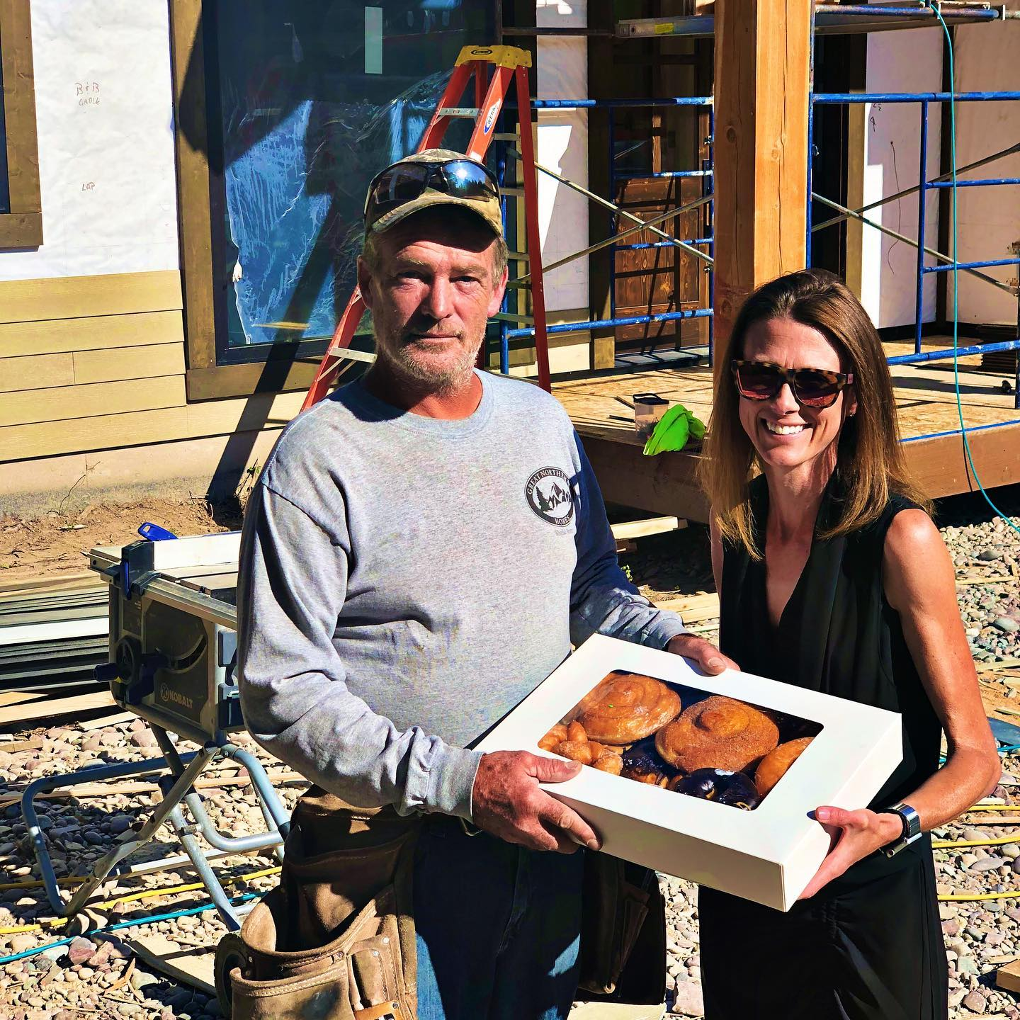 My text to start the day: Things to do this morning... donuts to Houser siding crew... # whitefish custom home builder