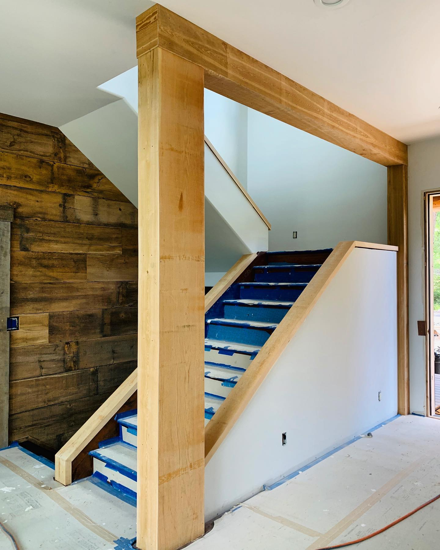 Final pieces of the Mountain House Remodel whitefish custom home builder
