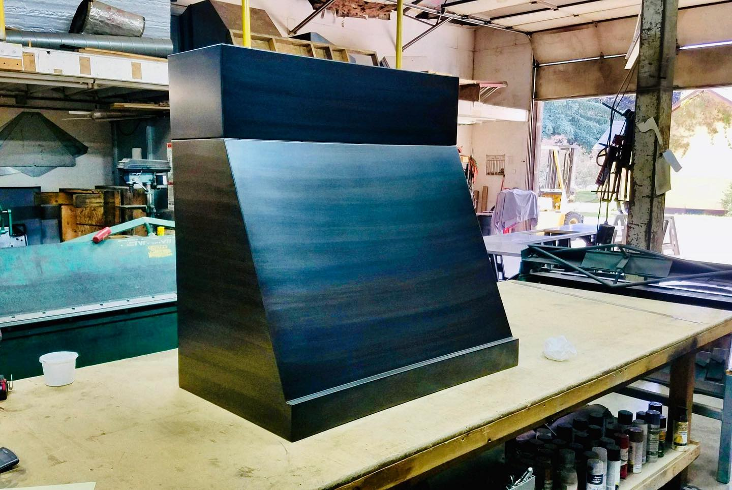 Look at this work of art. If I could cover all the surfaces in my house with steel I would (oh wait, I have done that!) this beauty is going into place on Monday! @cmtfabrication whitefish custom home builder