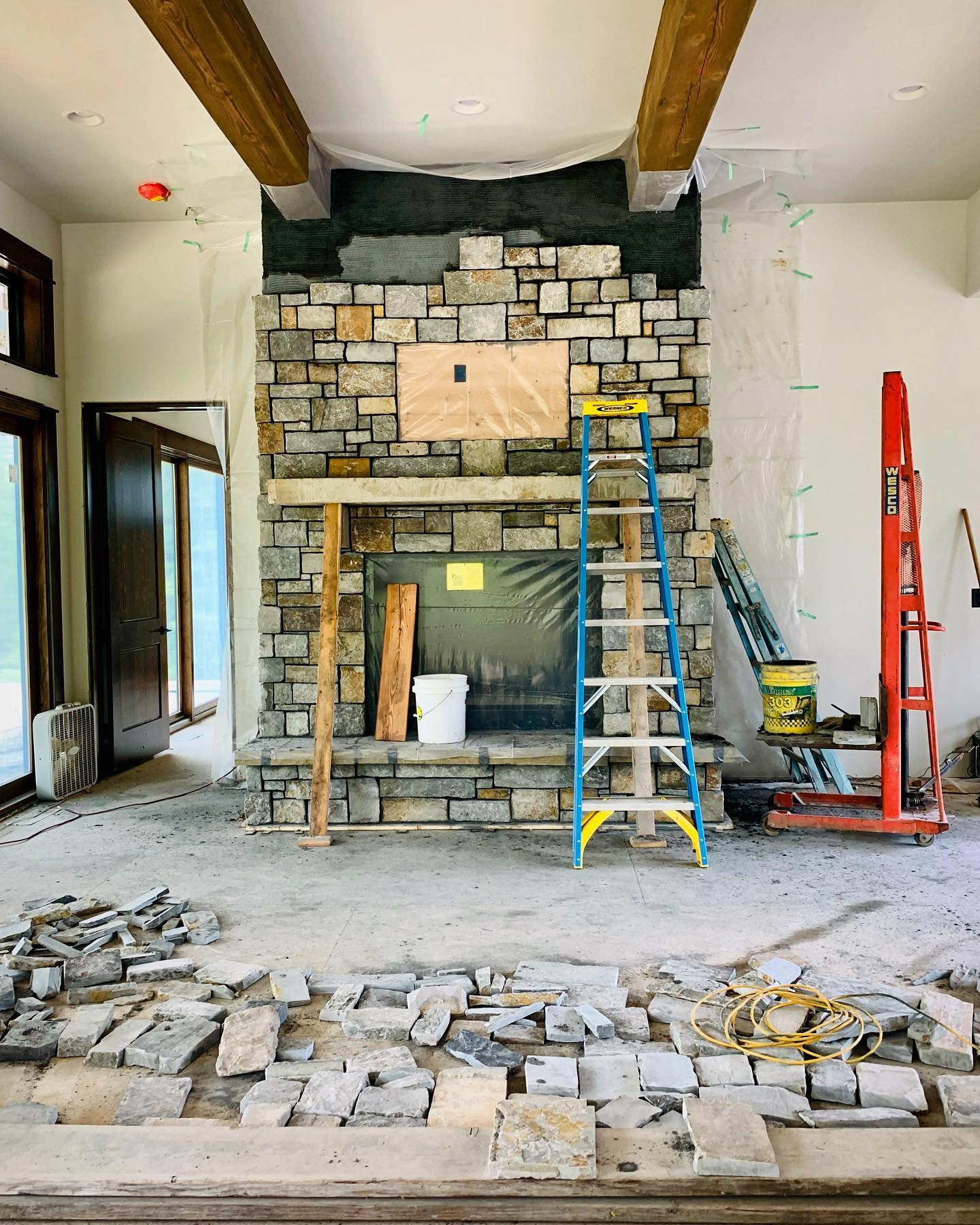Another Tetris game being played whitefish custom home builder