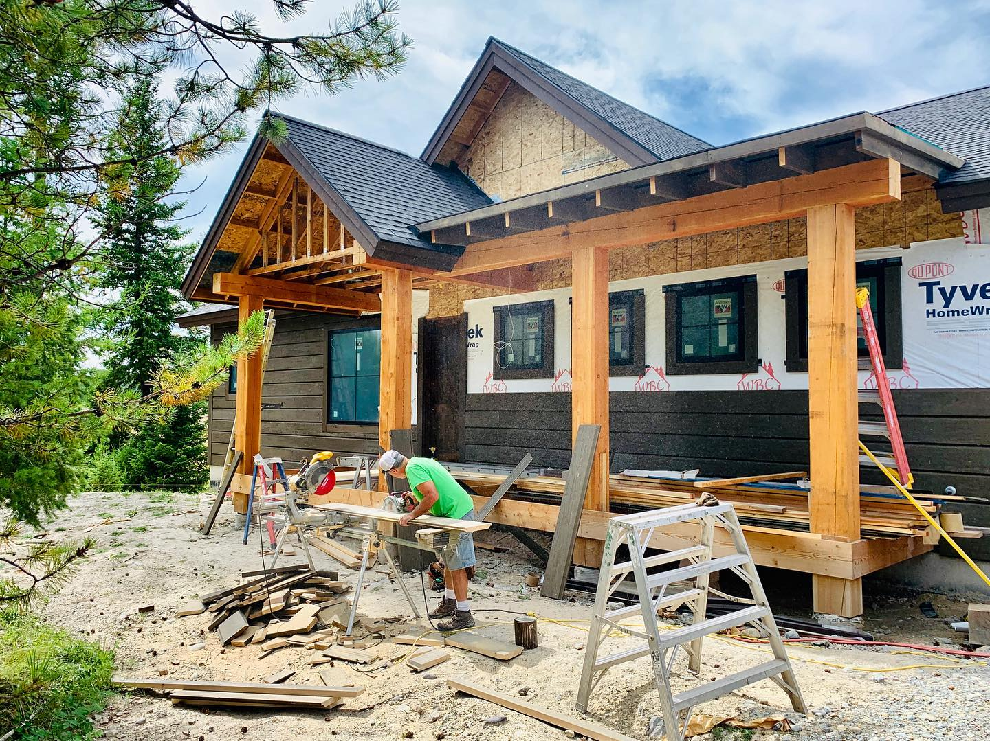 Spec house!! We are onto installing rick, wood floors and siding! Yippee! whitefish custom home builder