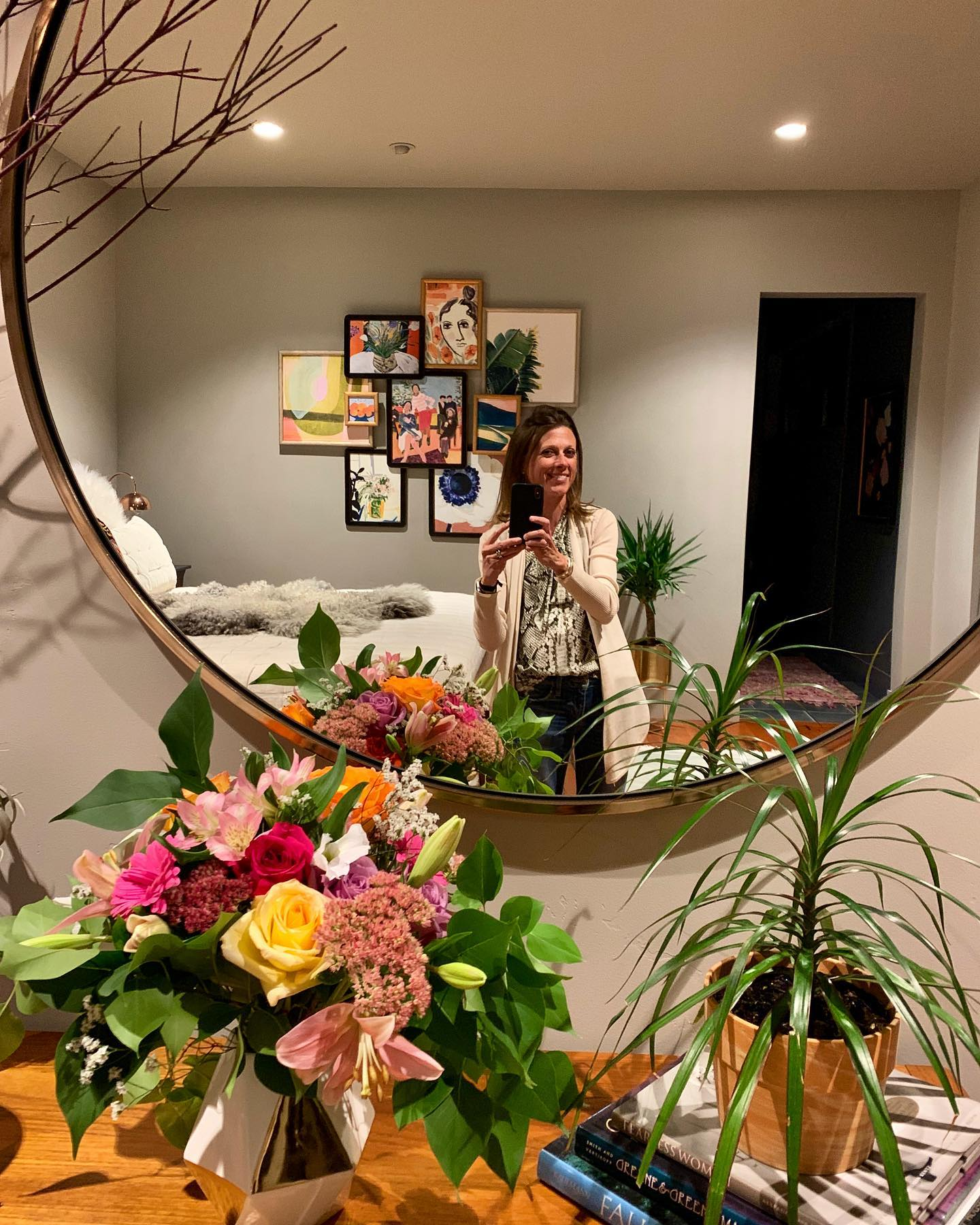 Final parade walk through...and flower delivery by my personal florist, Aunt Mary whitefish custom home builder