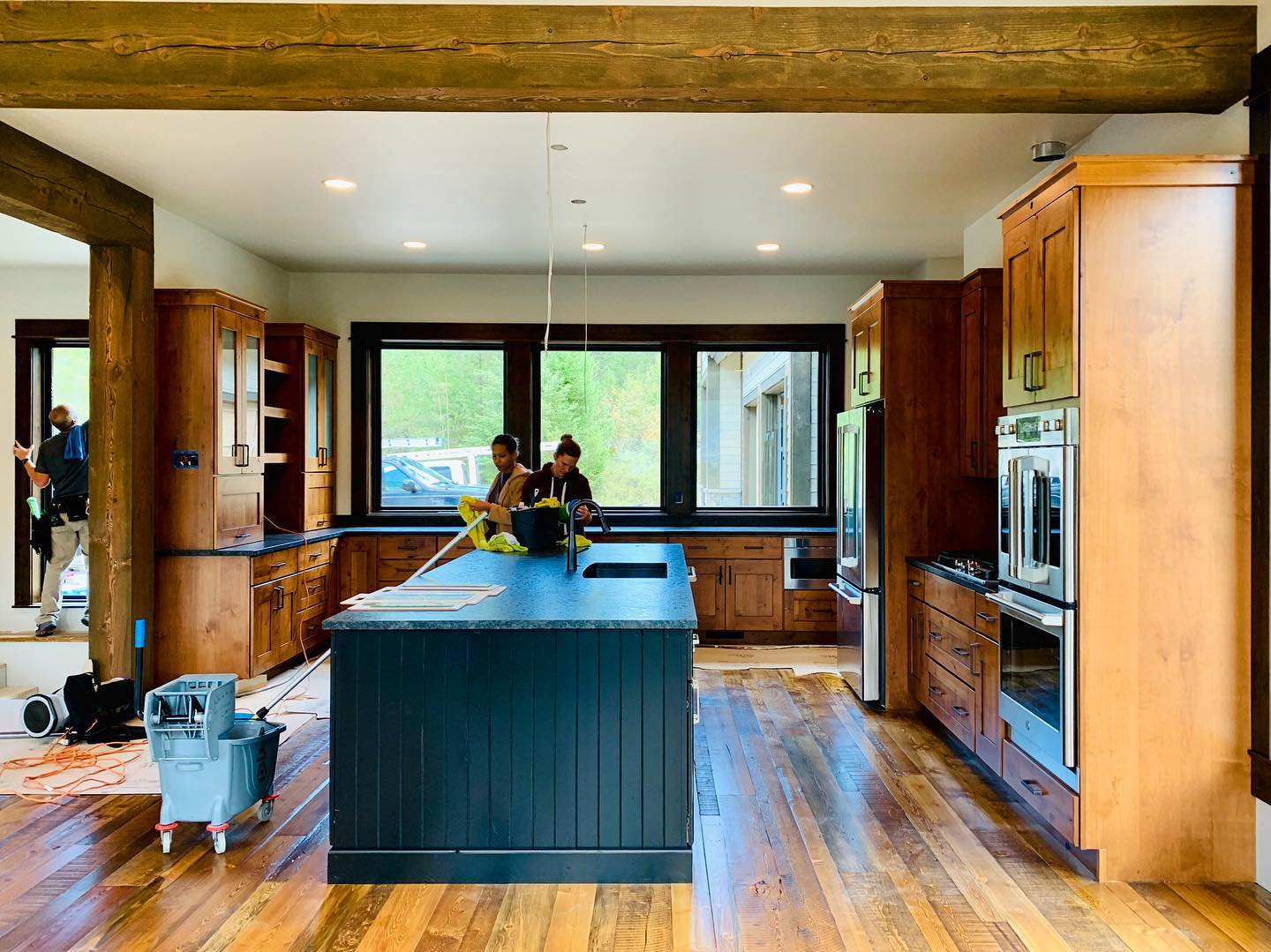 """Cleaning up another """"in the last week"""" house! whitefish custom home builder"""