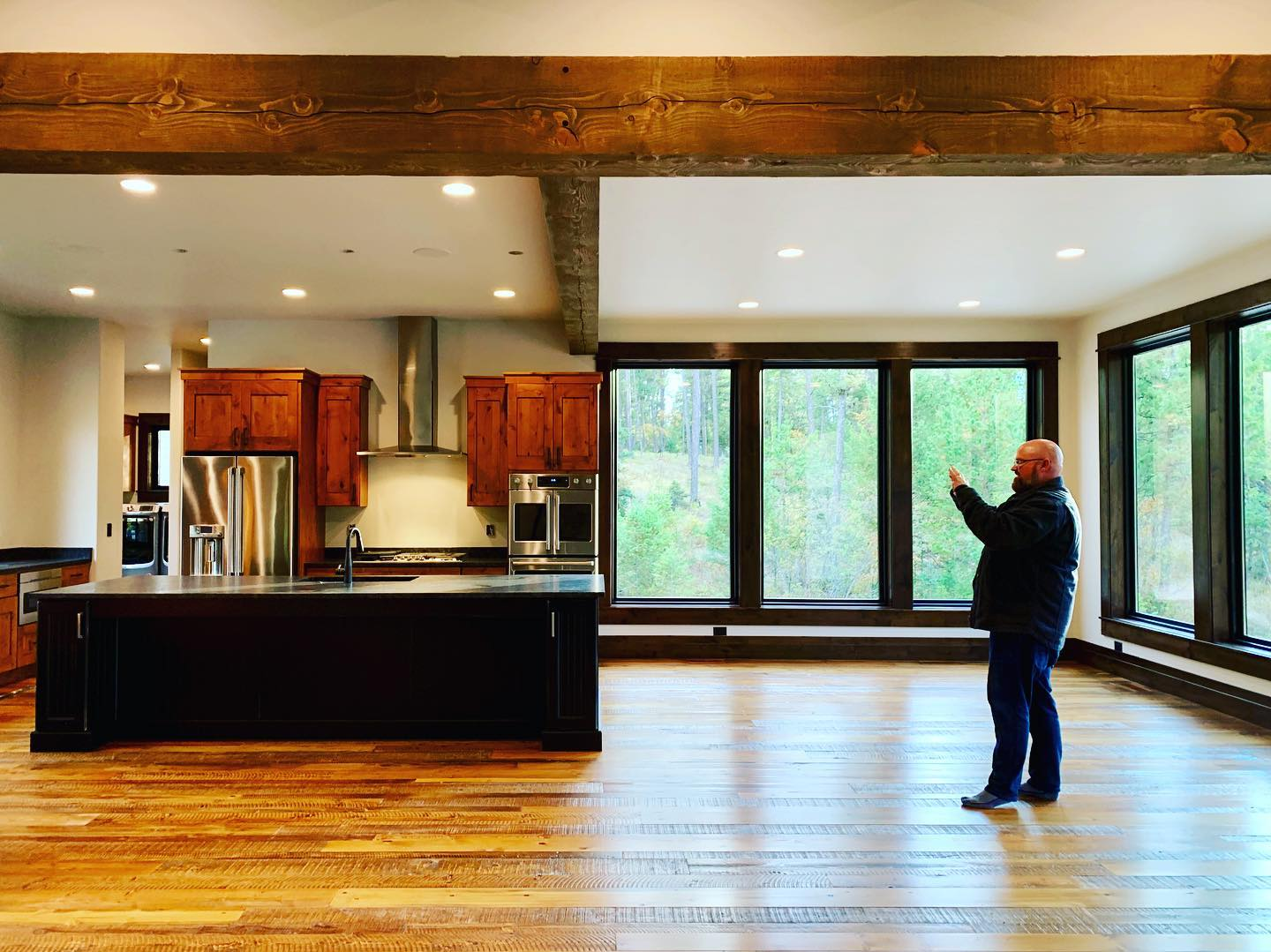 Bam  it is all coming together at Houser-mania! whitefish custom home builder