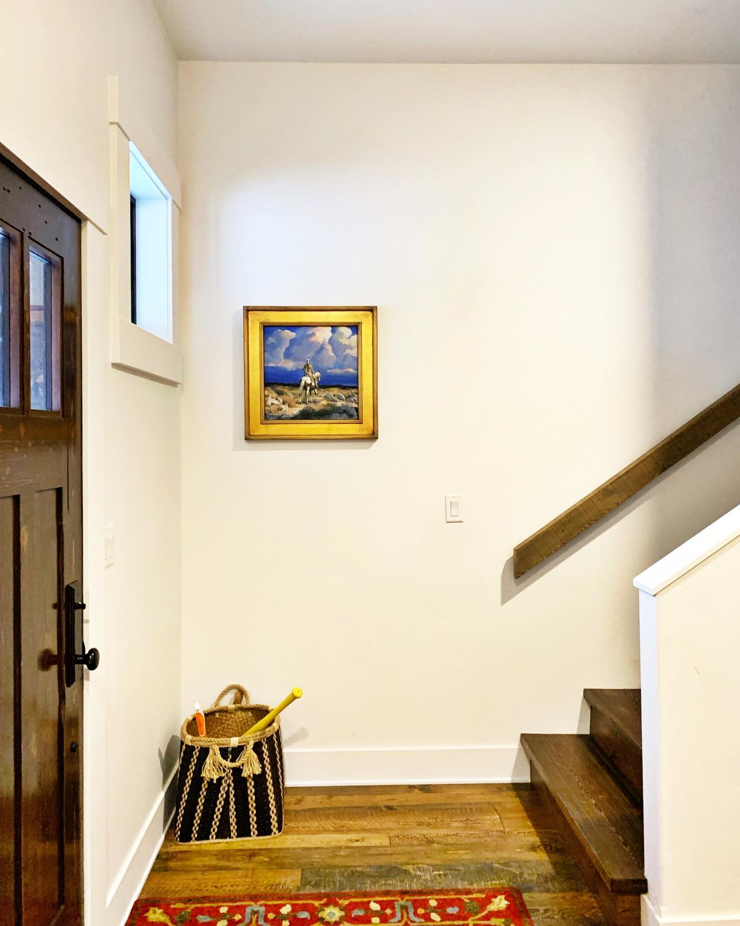 Few things make me as happy as well placed art  @frameref_whitefish whitefish custom home builder