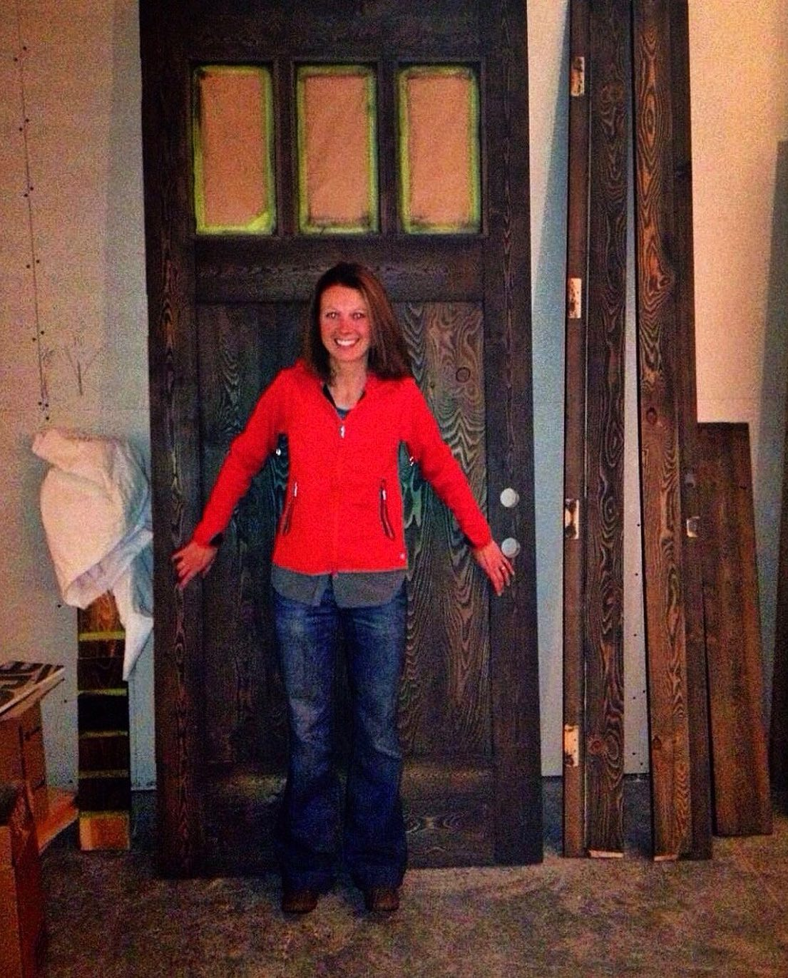 And exactly 5 years ago today I got the entry door for the Lookout (and it's been slammed at least a thousand times since) whitefish custom home builder