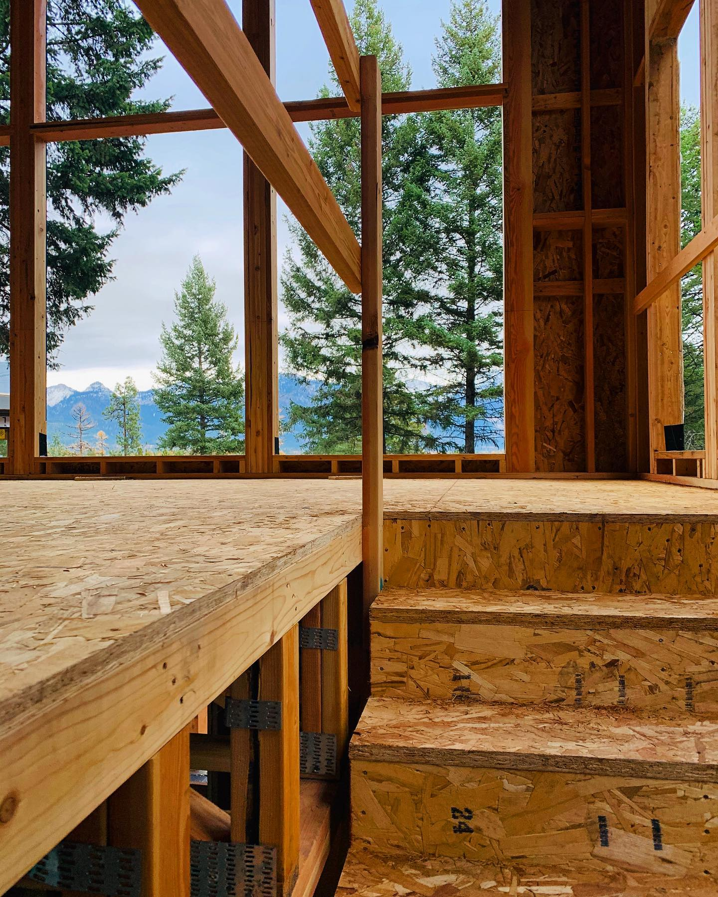 Can you imagine walking up your stairs and seeing this view? whitefish custom home builder