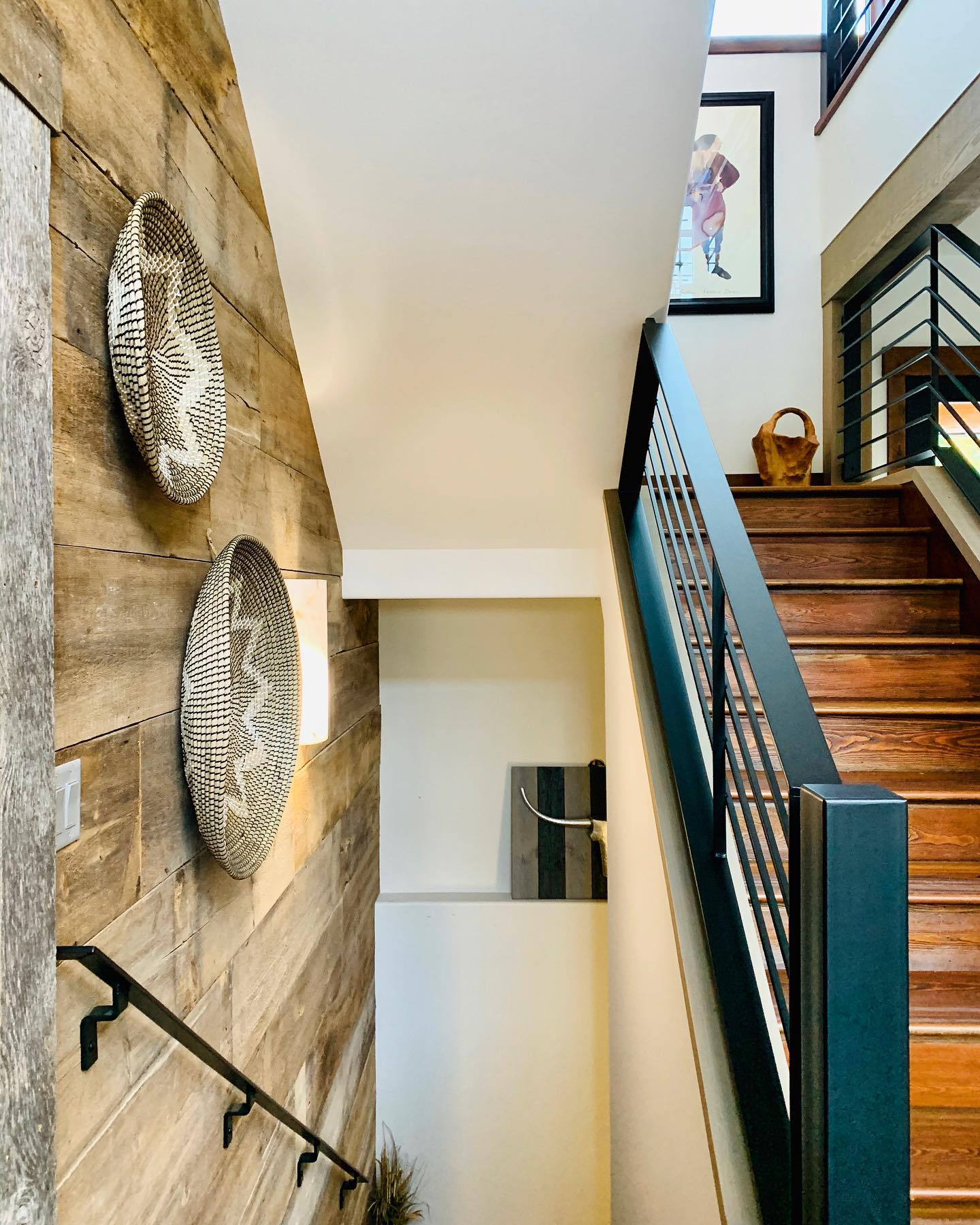 I love how a house can come together and look like a piece of modern art...and all these lines and textures whitefish custom home builder