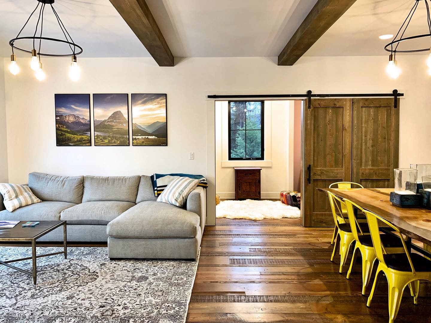 How about that pop of color?! whitefish custom home builder
