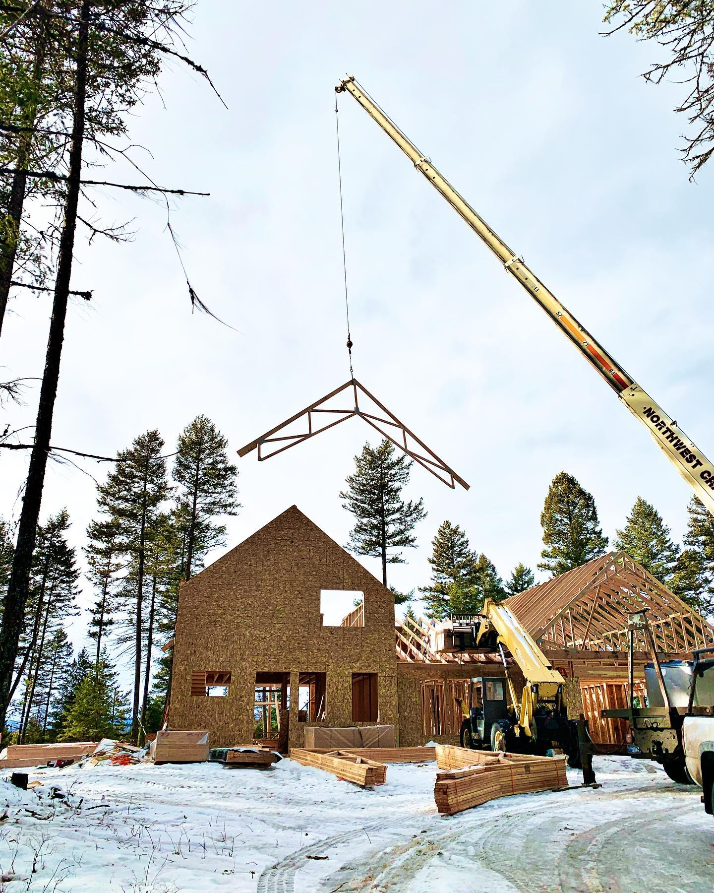 Warm and sunny...and doesn't feel like December!! whitefish custom home builder