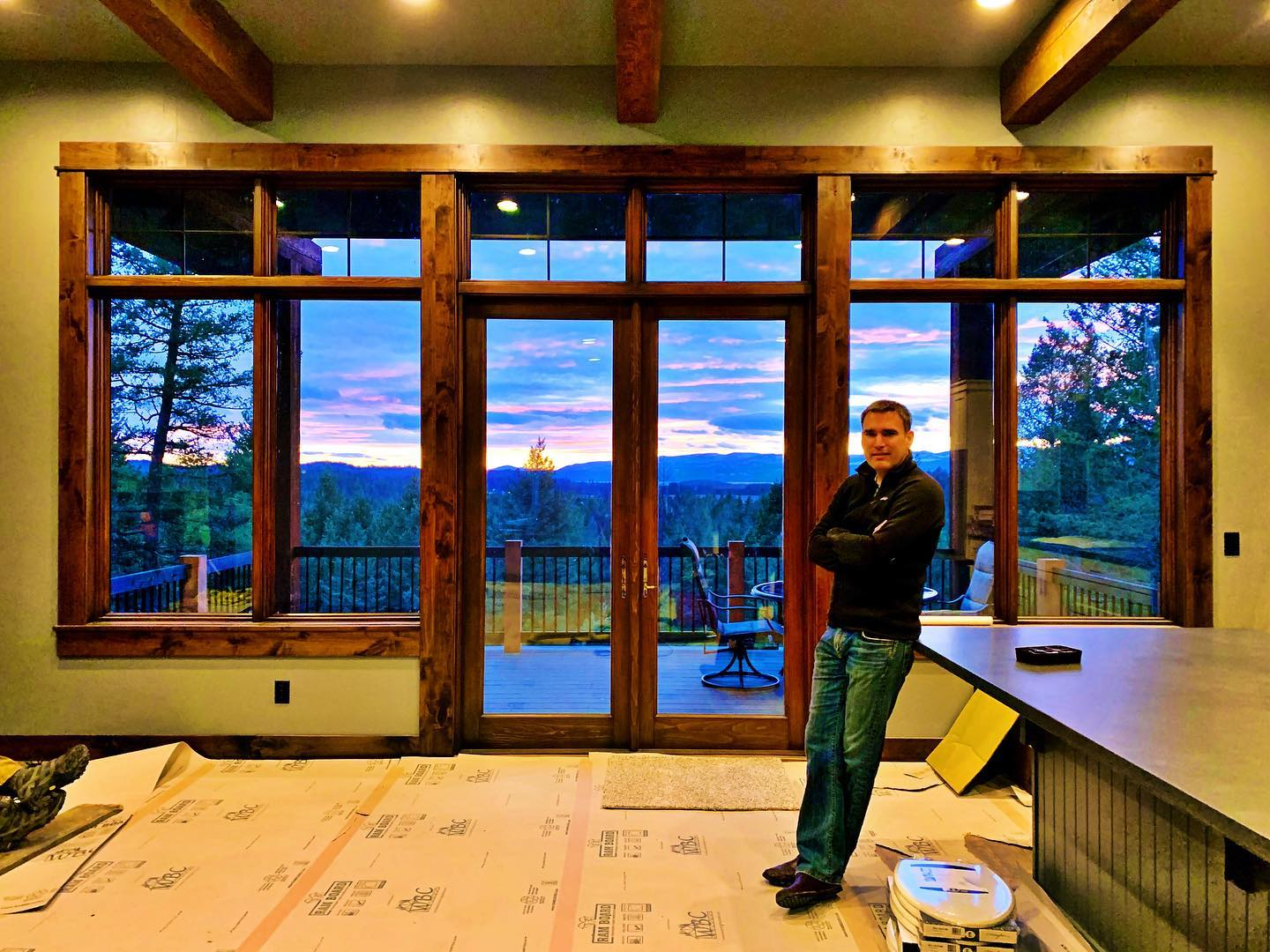 Yup. That's real. Final week wrap up (notice the toilet seats on the floor ) whitefish custom home builder