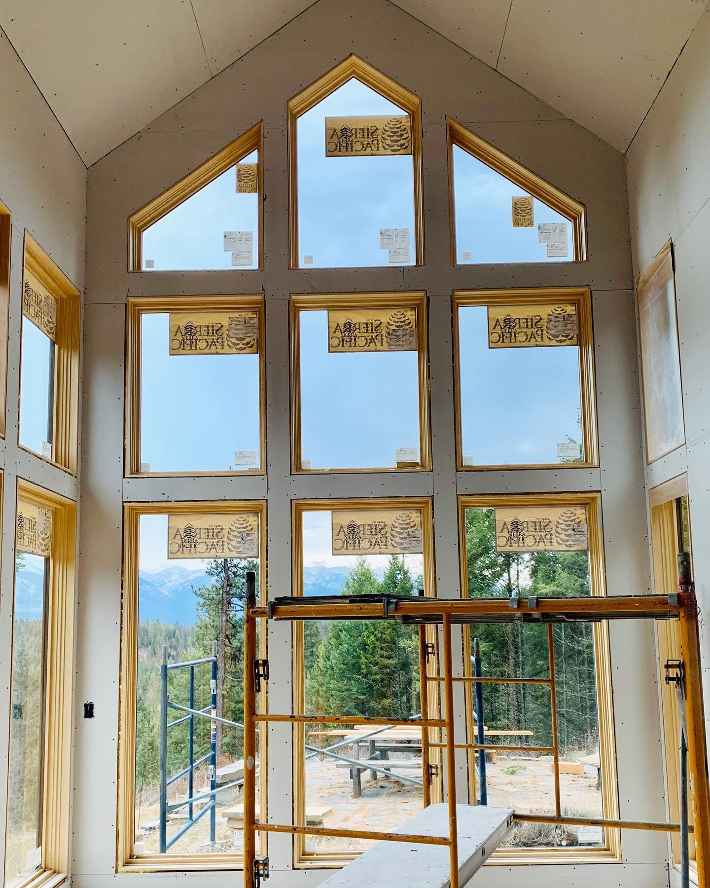 Window wall! whitefish custom home builder