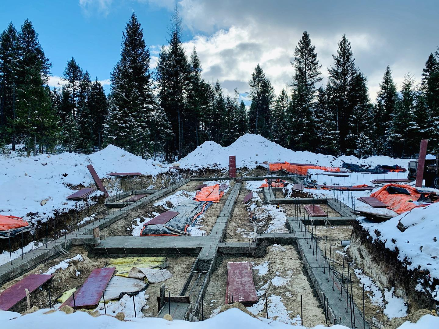 Another hole in the ground...loving these warm winter days! whitefish custom home builder