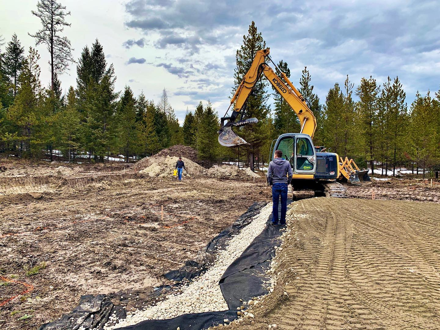Heading into the weekend...new road, new foundation ready to start. whitefish custom home builder