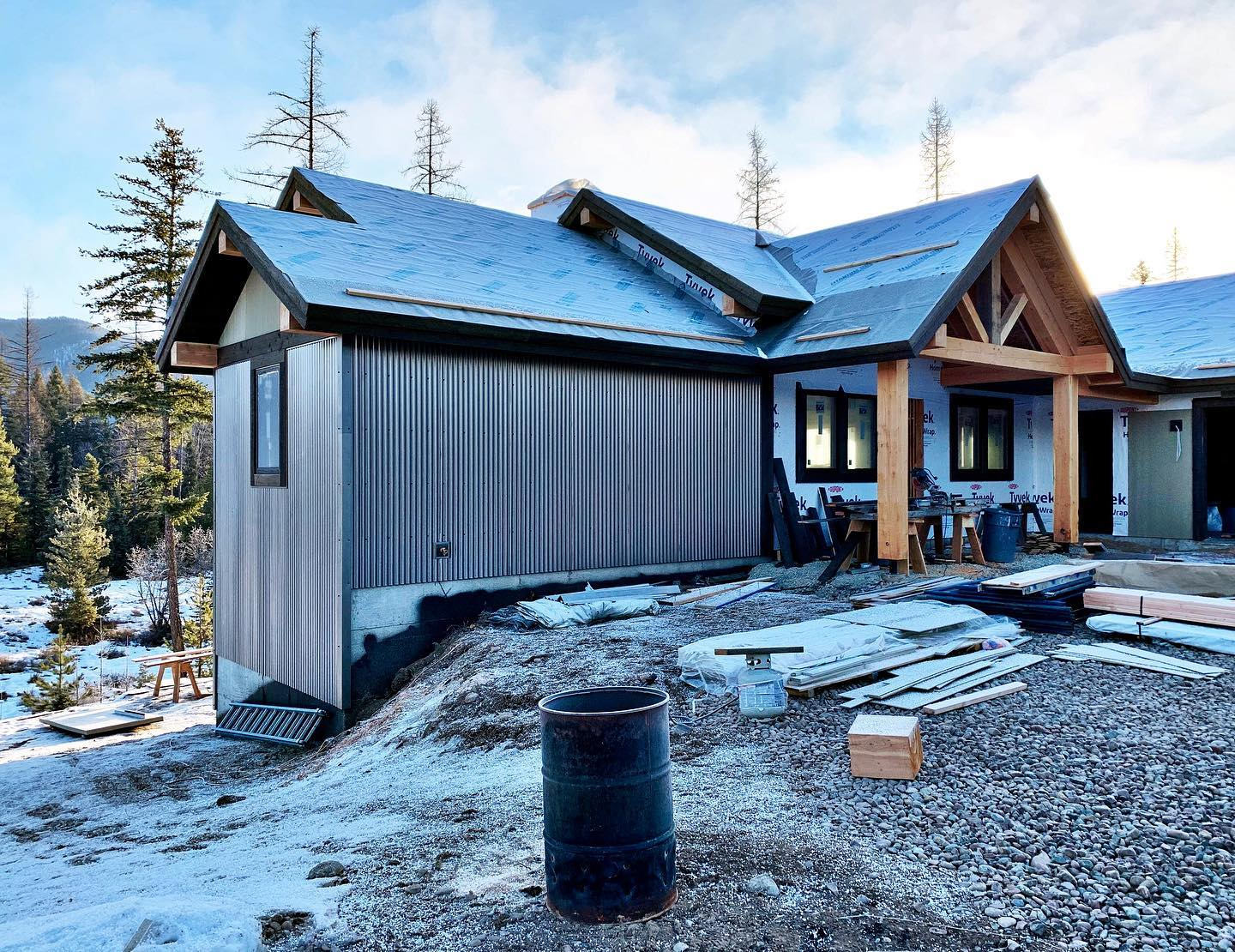 This metal siding has me so excited!!! Doesn't it look great?? whitefish custom home builder