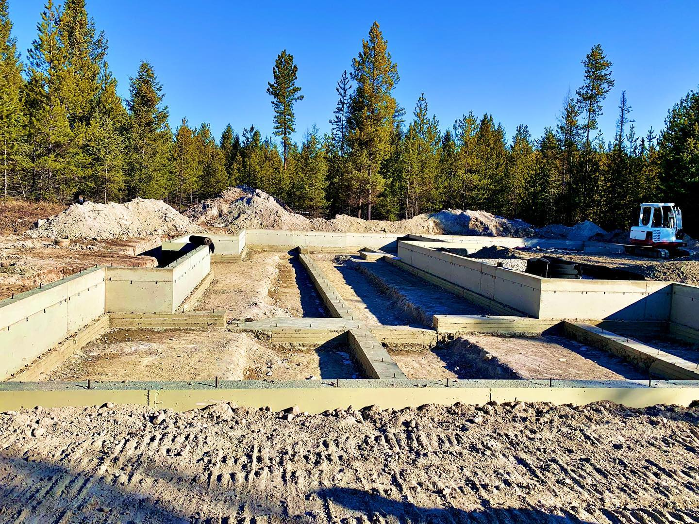 """Another """"art project"""" is in the ground. I love the phase where things really start to take shape. whitefish custom home builder"""