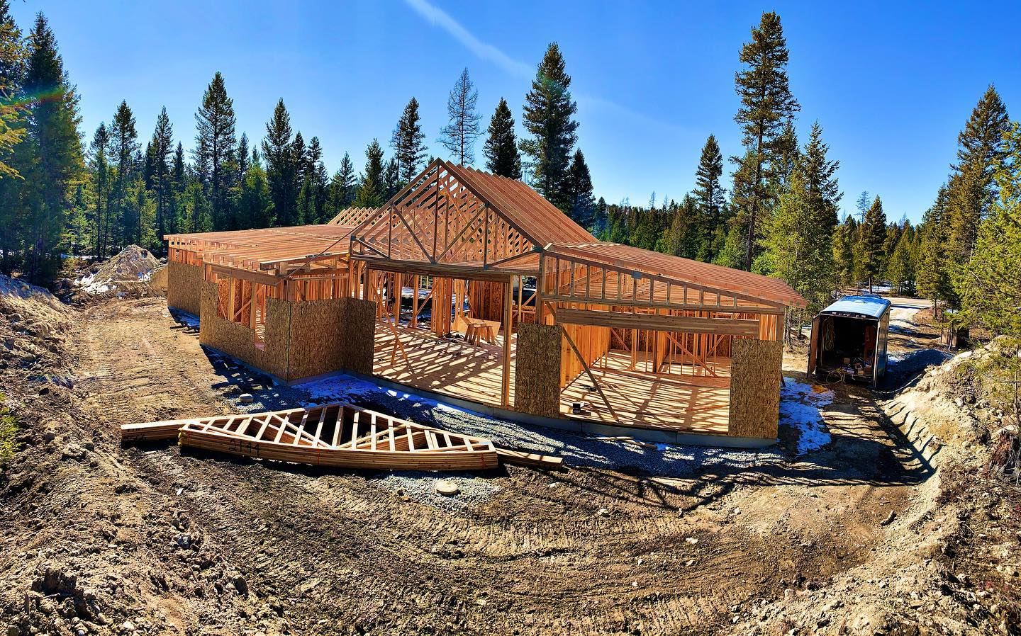 All in normal day's work... whitefish custom home builder