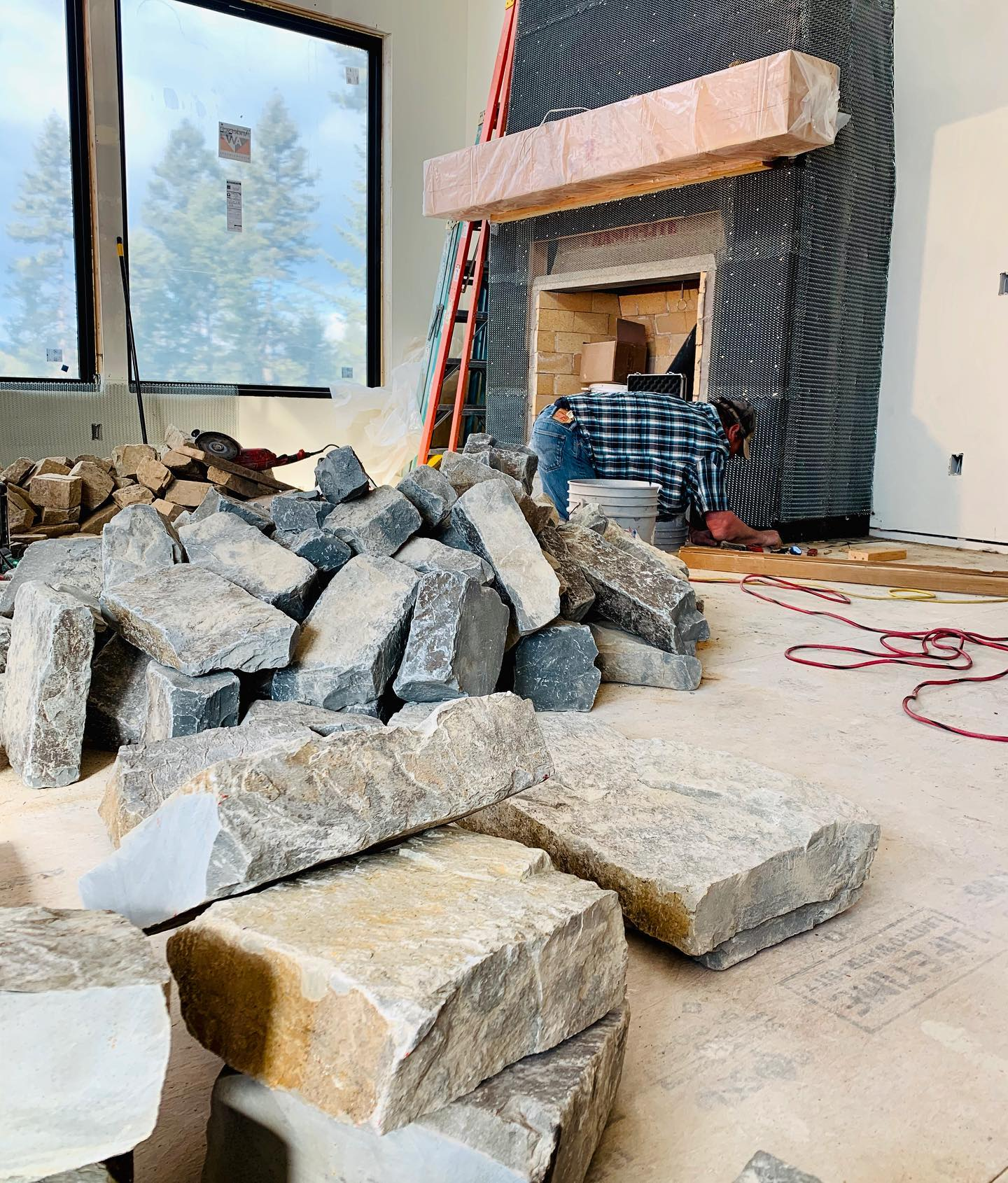 I think we have big enough rock whitefish custom home builder