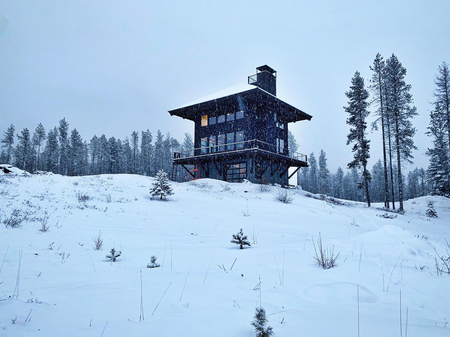April Fools Day...back to winter in Montana. Pretty but not funny whitefish custom home builder