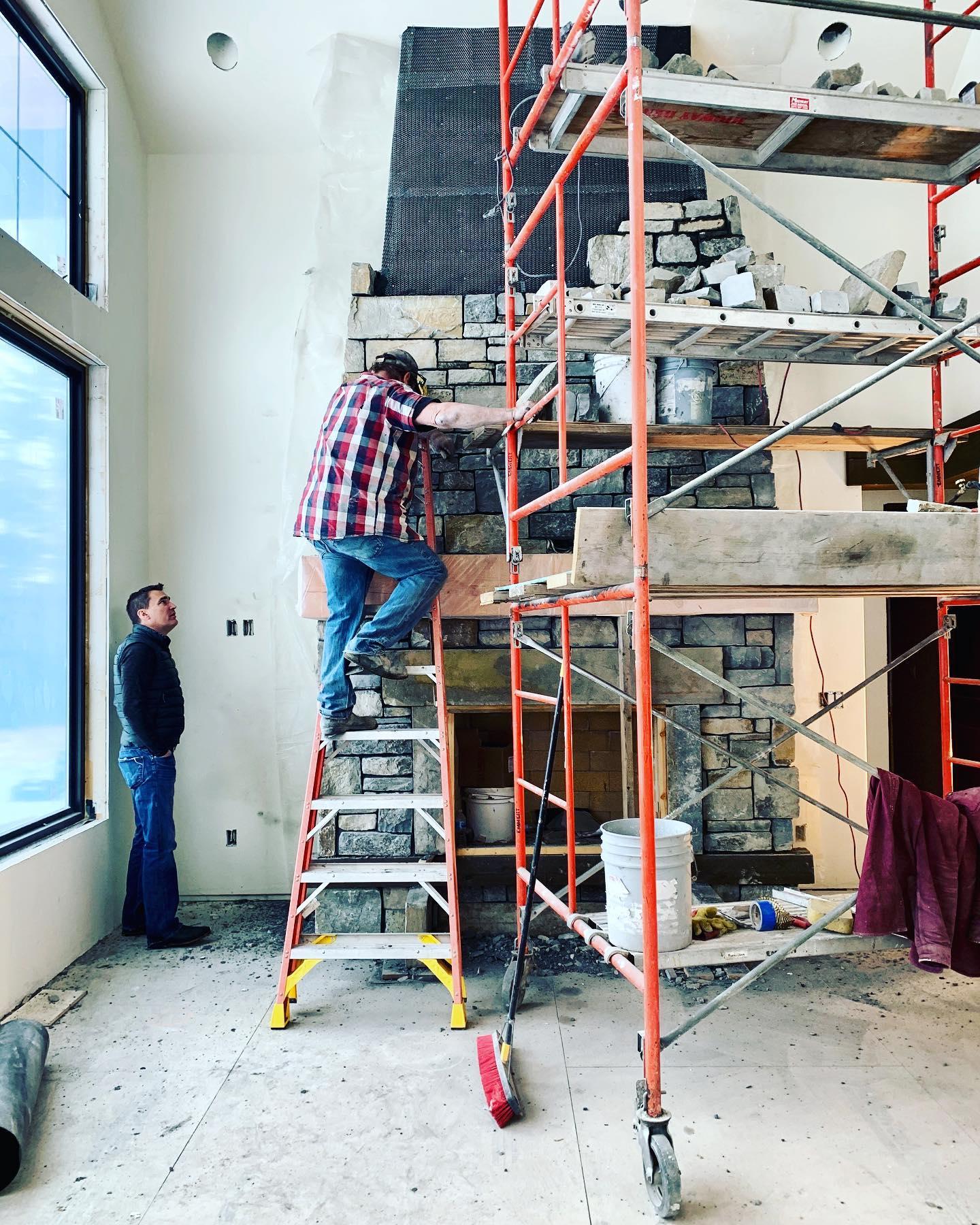 Progress report @montanarockworks whitefish custom home builder