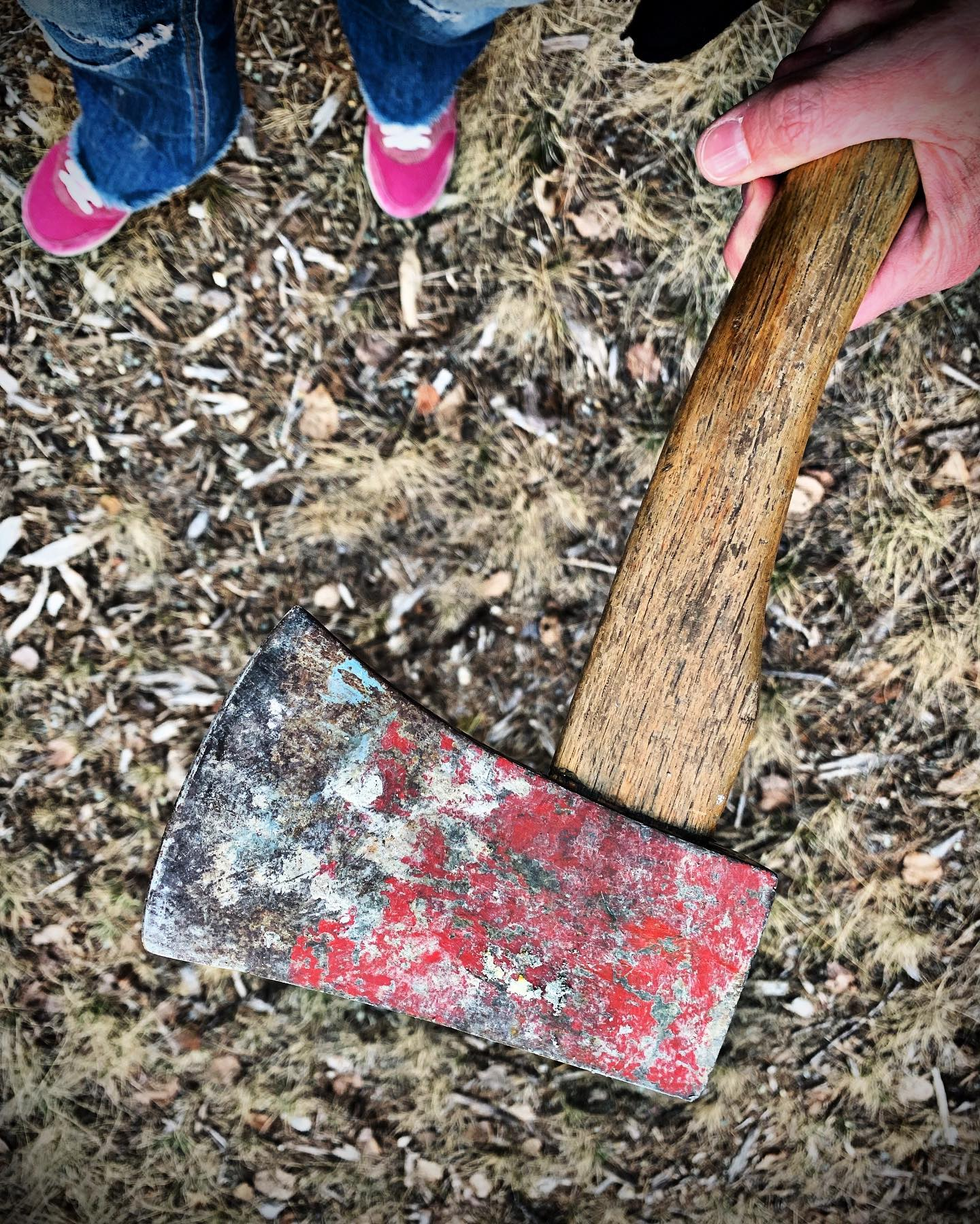Home builder little house on the prairie style...or just the ax my cousins left on the jobsite whitefish custom home builder