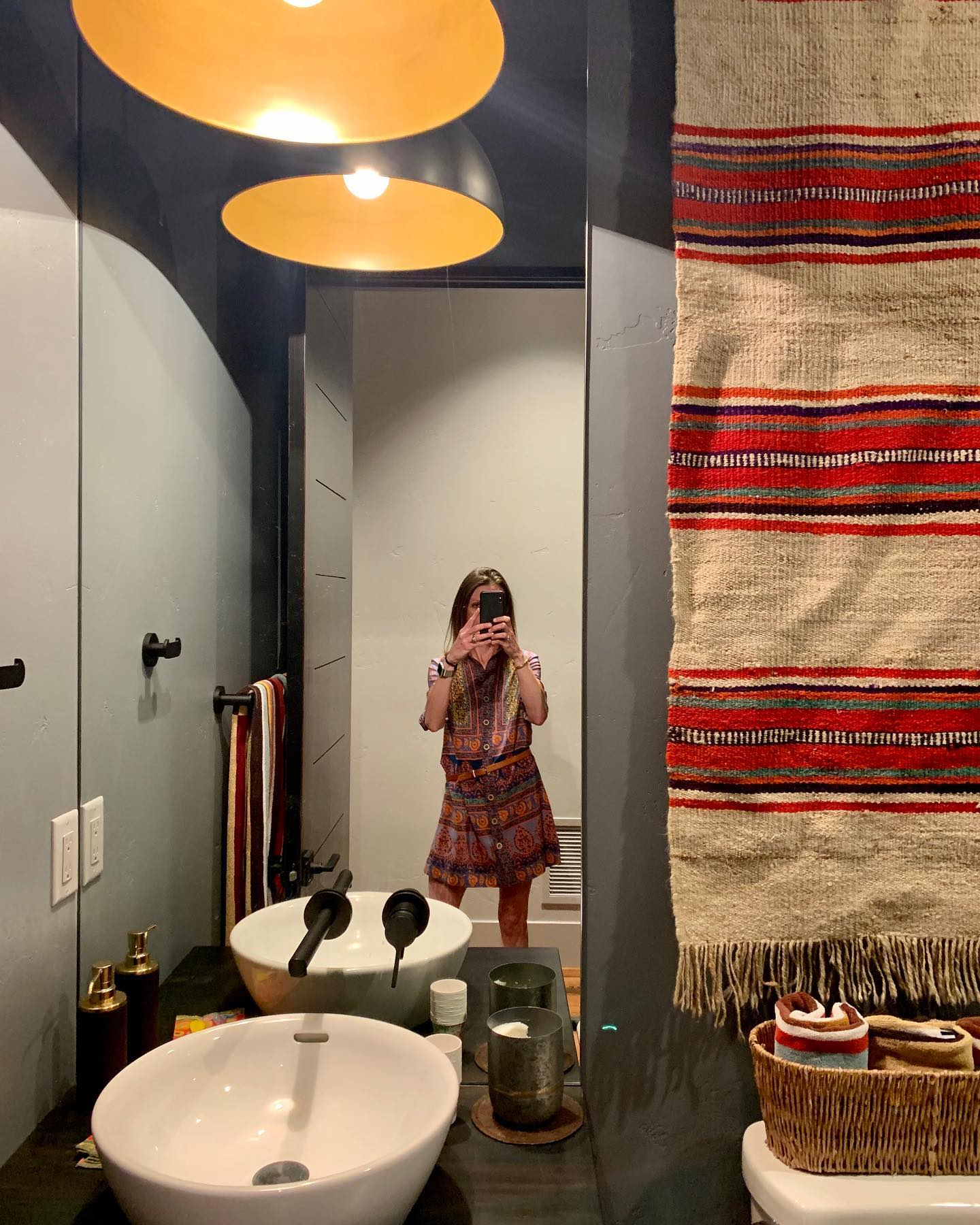 Powder rooms are the perfect place to do something totally different whitefish custom home builder