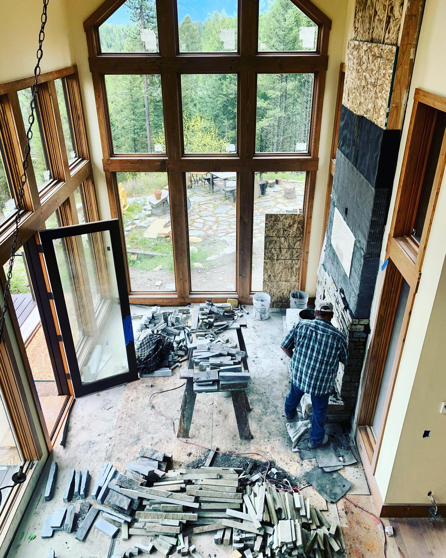 Another masterpiece in the works. And how about those windows?!? whitefish custom home builder