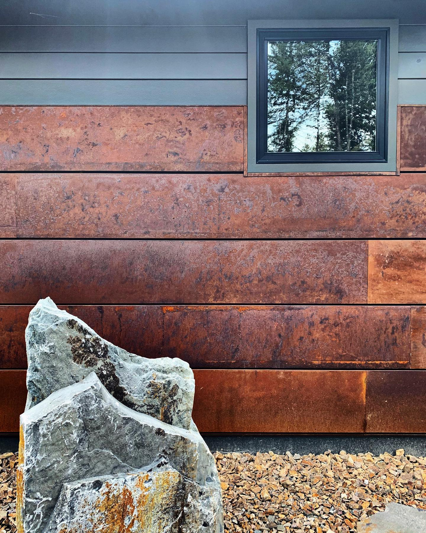 Siding so good it looks like a modern art project whitefish custom home builder