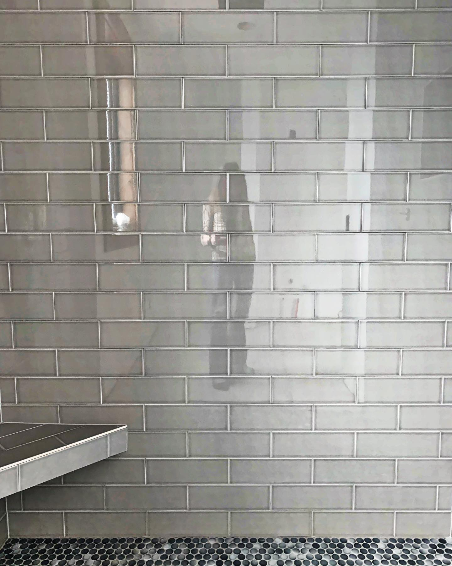 I am loving this version of gray subway tile! whitefish custom home builder