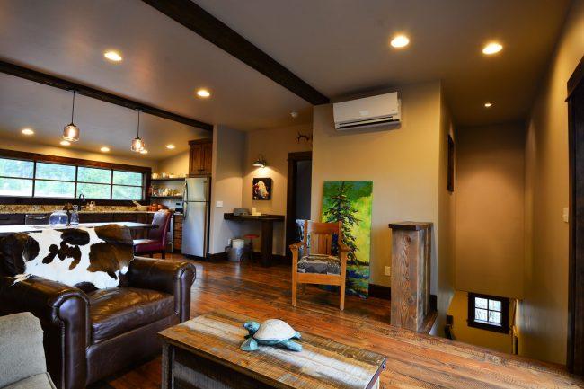 The Carriage House garage Apartment Rexford Montana Custom Home